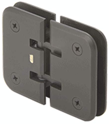 (C.R. LAURENCE EST180BR CRL Polished Brass Estate 180 Series 180 Degree Glass-to-Glass Hinge)
