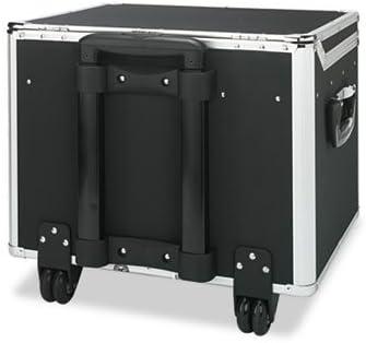 Lock Mobile File Chest Storage Box, Letter/Legal, Black