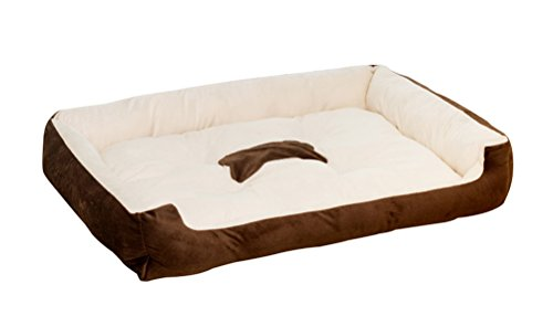 Freerun Cozy Durable Pet Dog Cat Bed Cuddler Kennel for Dog,Cat, Puppy, Easy to Wash, Warm and Comfortable – Coffee, M