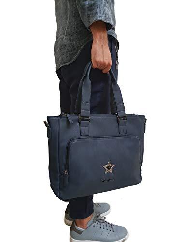 Shopper Giorgio sintética calidad de Azul piel en Vandelli Multipurpose alta Bag qqOZwE6FS