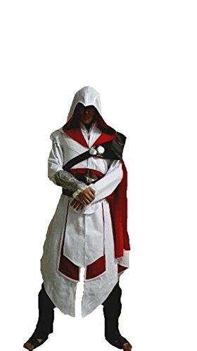 Ladream Assassin's Creed Brotherhood Ezio Costume Cosplay (Women Customize, White)