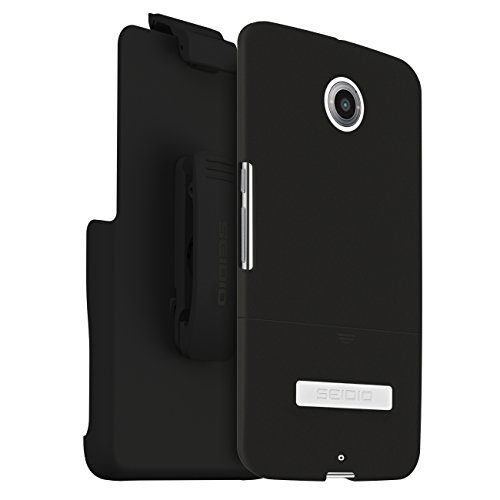 Seidio SURFACE Case with Metal Kickstand and Holster Combo for Motorola Nexus 6 - Retail Packaging - -