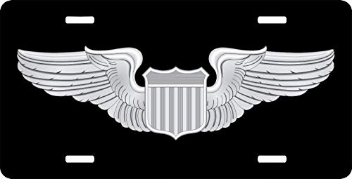 - License Plate Covers Air Force Pilot Wings Custom, Aluminum Metal License Plate Tag for Auto Cars, Car Tag Cover for Women/Men, 12 x 6 Inch