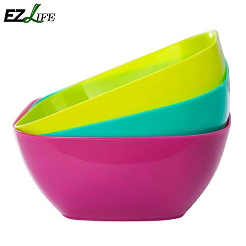 Zoomy far: Food-grade square salad bowl fruit plate, fruit plate seeds small snack dish dried fruit bowls KT0704: