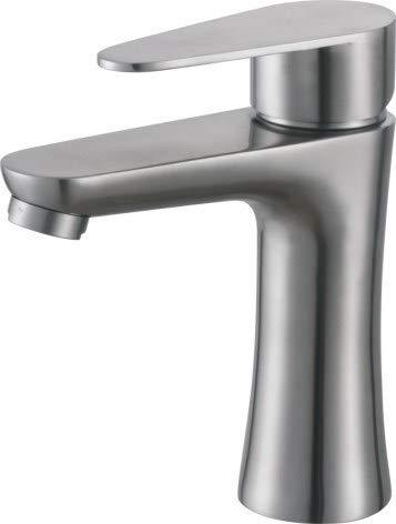 Edelstahl-Becken-heißer und kalter Hahn über Gegenbecken erhöhte Waschbecken-Badezimmer-Mischer