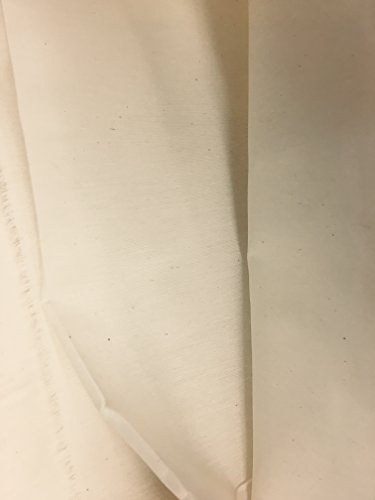 Cotton MUSLIN Woven Sew-On Ivory LIGHT Weight , 3 yards x 45'' by Katz trimming / Trims Unlimited