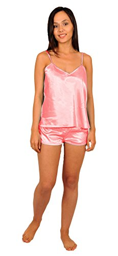 (Up2date Fashion Cami Sets, Five Color Choices, Sizes (S, M, L), Style#CamRG (Small, Pink))
