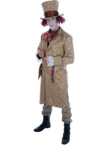 (Mens Rich Dickensian Victorian Mad Hatter Alice in Wonderland Book Day Fancy Dress Costume Outfit M-XL (Medium))