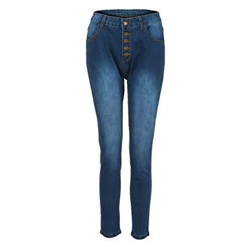 Down Taglie Fit Denim Pantalone Jeans Donna 4xl Vita Dragon868 Slim Casual Blu Forti Alta Button WqIvyFR