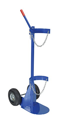 Vestil CYL-D-1-PN Cylinder Dolly with Pneumatic Wheel, Steel, 25-1/16