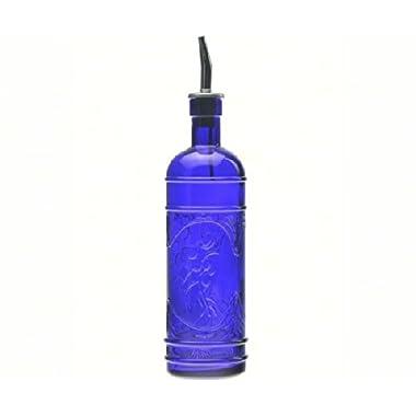 Couronne Co. COUR6541G15MPS Olive Branch Bottle with Pour Spout Cobalt