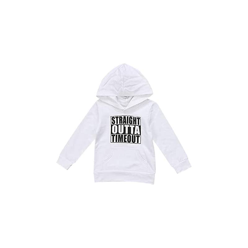 Baby Sweatshirts, Toddler Boys Hooded Infant Letter Blouse Hoodies Tops Blouse