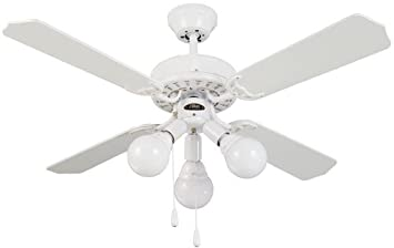Lúzete - Ventilador sella 3*e27, color blanco: Amazon.es: Hogar
