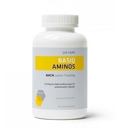 Kiologiq Basiq Aminos - 240 vegane Kaps à 661 mg - Pharmaqualität Made in Germany