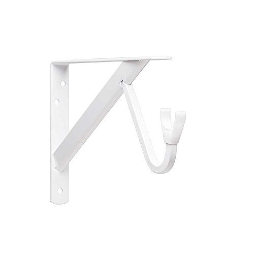 Closet-Pro HD RP-0495-WT Heavy Duty Shelf & Rod Bracket, White (Closet Rod Sterling John)