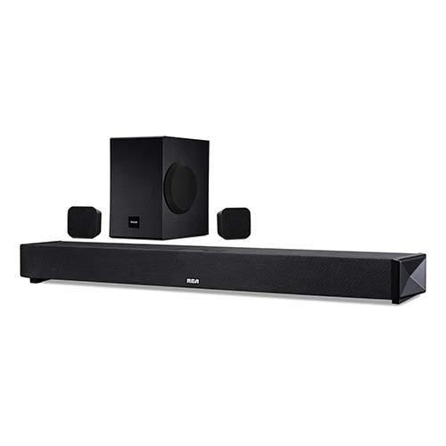 RCA (RTS739BWS) 5.1 Channel Wireless Surround Soundbar System - Wireless Subwoofer/Surround Speakers, Bluetooth