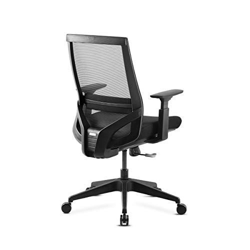 Mc Haus Vulcano kontor ergonomisk justerbar skrivbordsstol, svart
