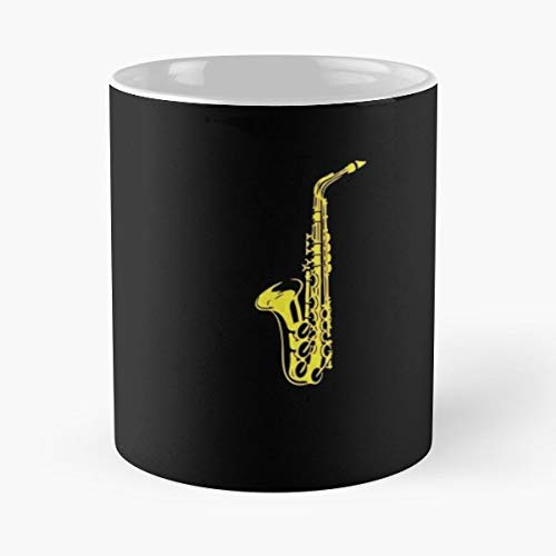 (Saxophone Sax Saxophonist Player - 11 Oz Coffee Mugs Unique Ceramic Novelty Cup, The Best Gift For Holidays.)