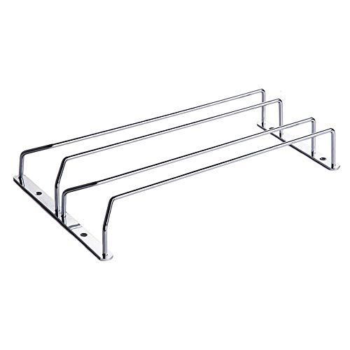 MyLifeUNIT 304 Stainless Steel Under Cabinet Stemware Rack for 6-8 Red Wine Glass, 14'' x 9'' by MyLifeUNIT