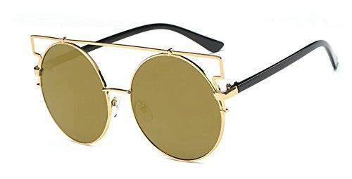 style Lennon inspirées soleil retro lunettes Local polarisées du de rond métallique en vintage Or cercle q8p5wpxXt