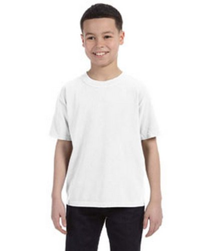 Comfort Colors C9018 Youth Ringspun T Shirt. - White - XL ()