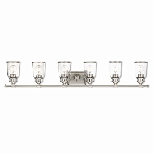 Collection Lawrenceville (Livex Lighting 10516-91 Lawrenceville 6 Light Bath Vanity, Brushed Nickel)