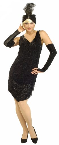 [Black 1920s Flapper Costume - Womens Small] (Historical Figures Costumes Female)
