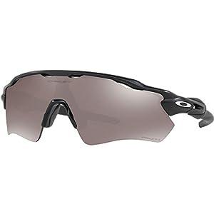 Oakley Men's Radar Ev Path Polarized Iridium Rectangular Sunglasses, Matte Black, 0 mm