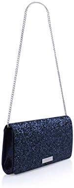Carvela Alice Pochette à paillettes Bleu sarcelle