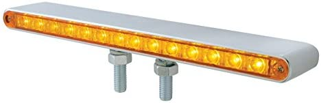 Amber /& Red LED//Clear Lens 1 Pack United Pacific 38841 3 LED Double Face Light