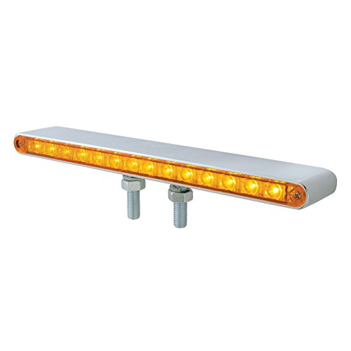 United Pacific 39204 14 LED Double Face Light Bar - Amber & Red LED/Amber & Red Lens, 1 -