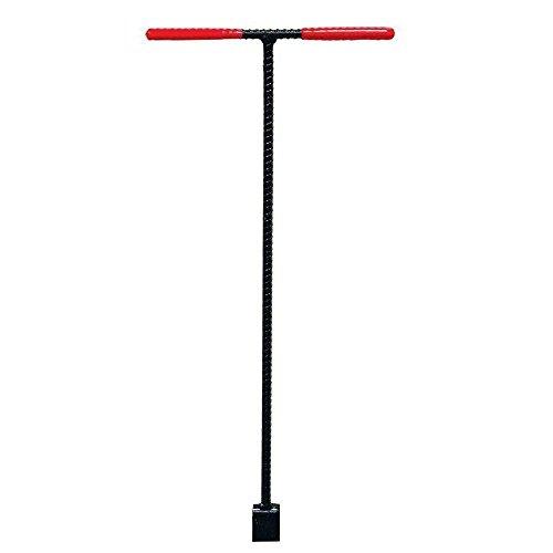 Adumly size 60 in. Water Meter Turning Valve Key Wrench Comfort Grip Tee Handle Plumbing Tool