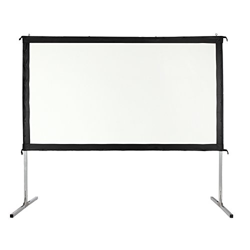 Homegear Fast Fold Portable 110'' Projector Screen 16:9 HD for Indoor/Outdoor Use by Homegear