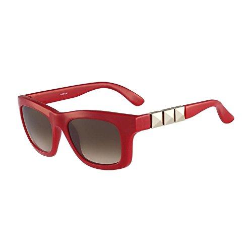 Valentino V691S 613 Red Square Valentino Sunglasses