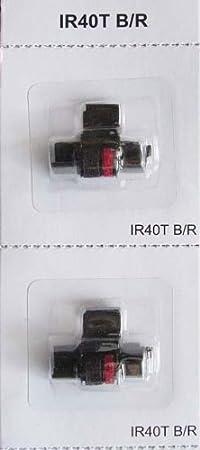 Black and Red Sharp EL-1750V Sharp EL-1801V Calculator Ink Roller IR-40T Compatible 3 Pack