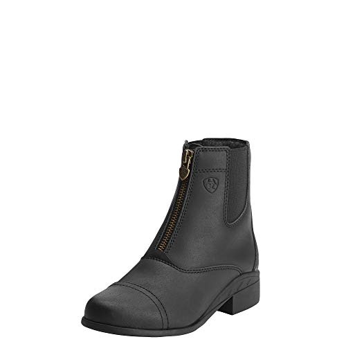 Leather Boots For Girls (ARIAT Kid's Scout Zip Paddock Paddock Boot Black Size 4 K B/Medium)