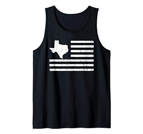 Lone Star Tank - I Love Texas Map USA American Flag Lone Star State Gift Idea Tank Top