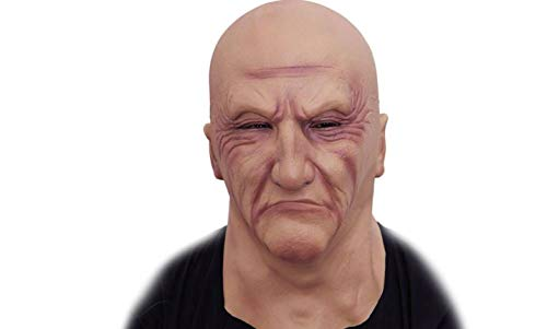 Halloween Latex Head Mask Gruesome Zombie Costume Cosplay Props (Bald Brother Mask),The leader of the horrible gangster society makes fun of the latex head mask.Free -