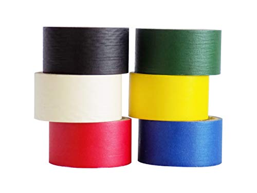 WOD CPM-60 Craft Multi Colored General Purpose Rainbow Masking Tape, for Fun DIY Arts & Crafts, Labeling, Writable & Decorations (Available in Multiple Sizes & Colors): 6 in. X 60 Yds (Pack of 6) by WOD Tape (Image #1)