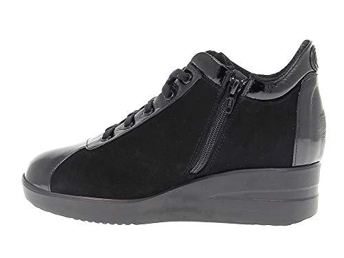 Line Mujer Ruco Ruco226cn Gamuza Negro Zapatillas RUnq4