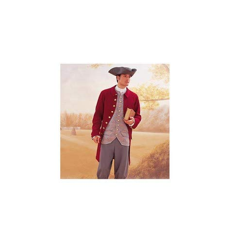 White Balloon Vest Fitted Jacket and Tri length Pants Sleve Shirt Corner Hat Butterick Patterns B3072 Size 44-46 48 Mens Historical Costume: Knee