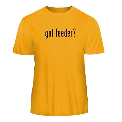 Hummingbird Gold Feeder (Tracy Gifts got Feeder? - Nice Men's Short Sleeve T-Shirt, Gold, Large)
