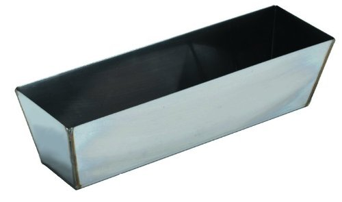 """Edward Tools Stainless Steel Mud Pan for Drywall 14"""" - Heli Arc Weld Prevent mud Collecting in Corners - Heavy Duty Rust Resistant - Easy to Clean - Sturdy Edge for Quicker Knife Cleaning"""