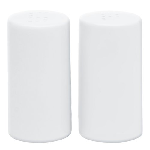 Harold Imports HIC Café White Porcelain Salt and Pepper Shakers