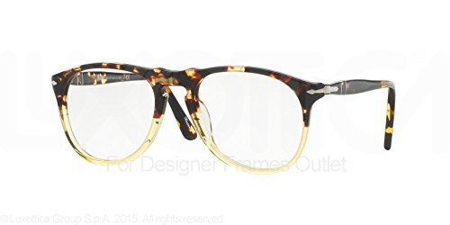 85b30bba1c Image Unavailable. Image not available for. Color  PERSOL Eyeglasses PO  9649V 1024 Ebano E Oro 52MM