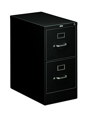 HON Two-Drawer Filing Cabinet- 510 Series Full Suspension Letter File Cabinet, 29 by 15-inch, Black (H512) Drawer Letter Black File Cabinets