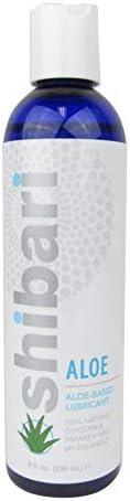Shibari Thank Me Now Shibari Aloe, Natural Aloe-Vera Based Personal Lubricant, Glycerin & Paraben-Free Lube, pH Balanced, 8