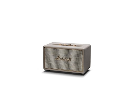 Marshall Acton Wireless Multi-Room Wi-Fi and Bluetooth Speaker, Cream (04091913)
