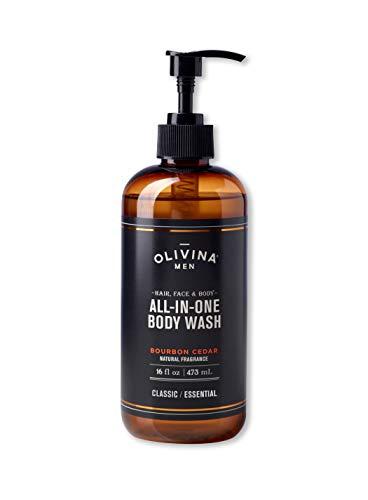 - Olivina Men Hair, Face & Body All-in-One Wash, Bourbon Cedar, 16 Fl. Oz.