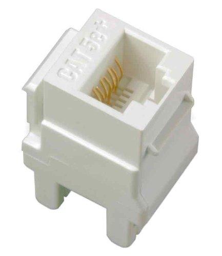 Legrand - On-Q WP3450LA50 Category 5e RJ45 Keystone Connector (50 pack), Light Almond